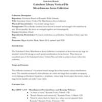 A Guide to the Gainsboro Library Vertical File Miscellaneous Items Collection<br /><br /> <br /><br />